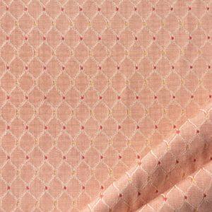 tessuto rasato rombo smeraldo colore rosa antico