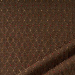tessuto rasato rombo smeraldo colore marrone