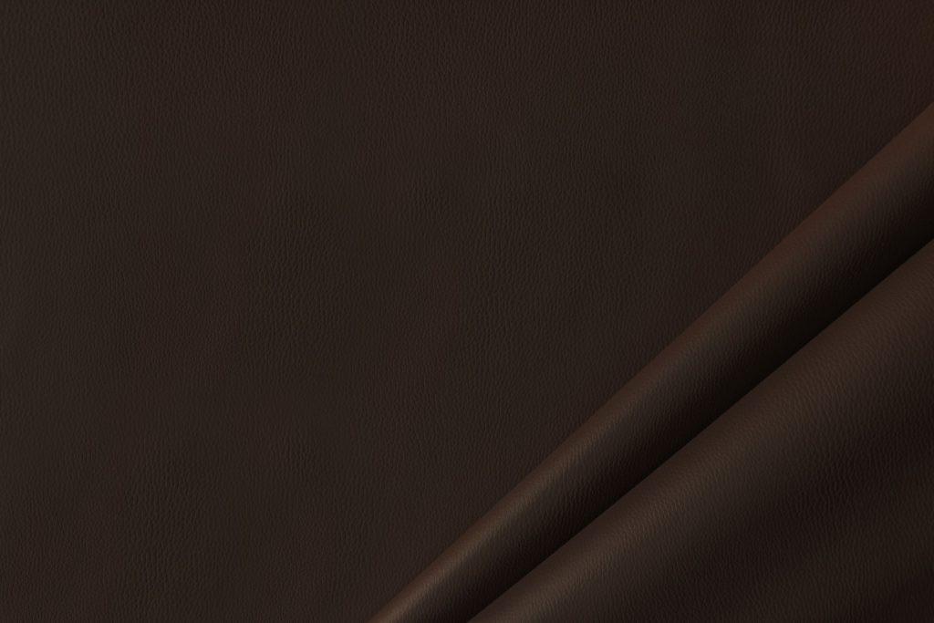 finta pelle liscia ignifuga classe 1 mx lapelle colore marrone scuro