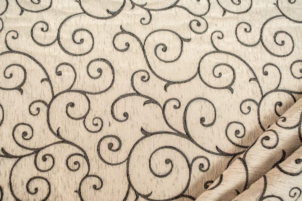 tessuto ciniglia ambra colore bianco