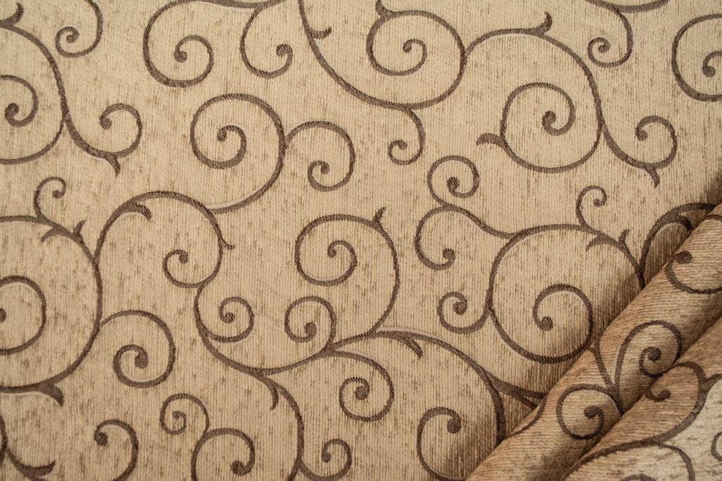 tessuto ciniglia ambra colore beige scuro