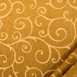 tessuto ciniglia ambra colore senape