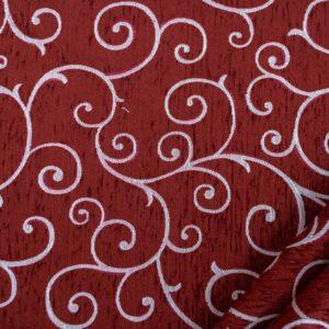 tessuto ciniglia ambra colore bordeaux