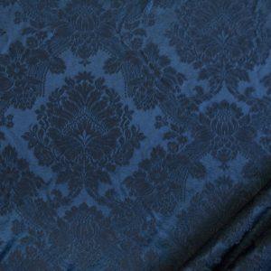 tessuto elegante damascato mx ronda colore blu