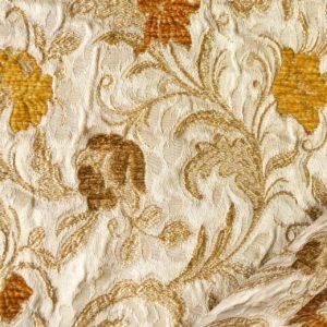 tessuto elegante ramage mx nabucco colore beige arancio