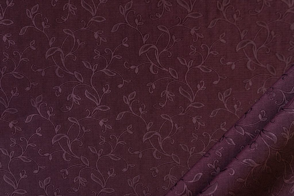 tessuto elegante ramage mx supreme colore prugna