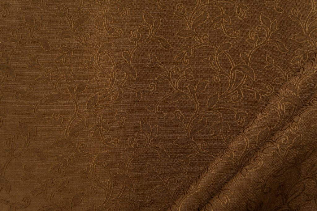 tessuto elegante ramage mx supreme colore marrone
