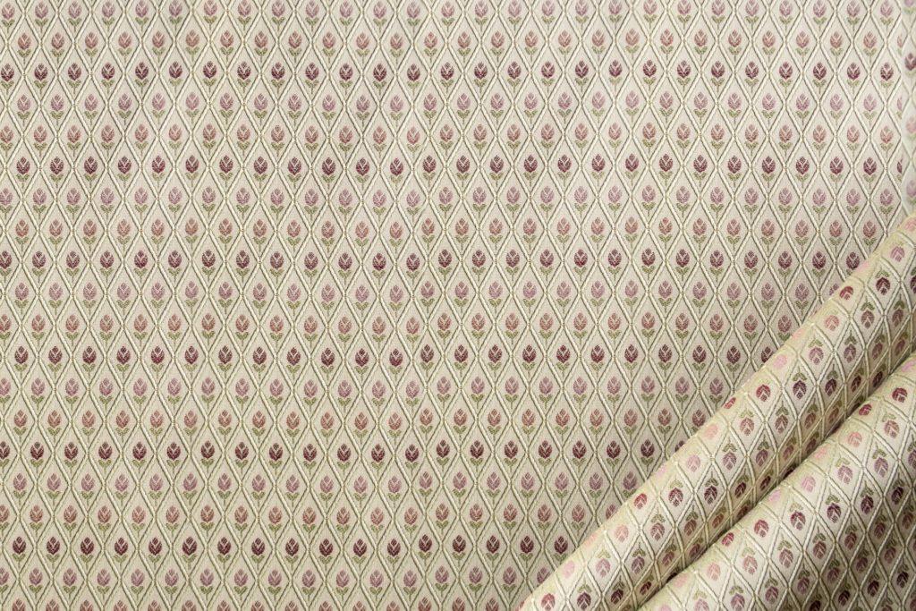 tessuto elegante rasato lurex con rombetto mx galassia colore beige rosa