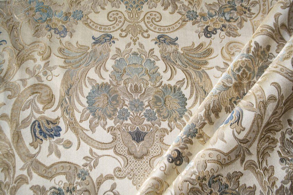 tessuto elegante rasato lurex con tableau mx galassia colore turchese