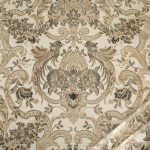 tessuto elegante rasato lurex con tableau mx galassia colore beige tortora