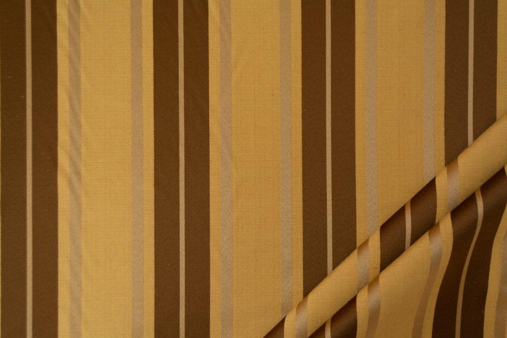 tessuto elegante riga gramde mx supreme colore oro antico e marrone