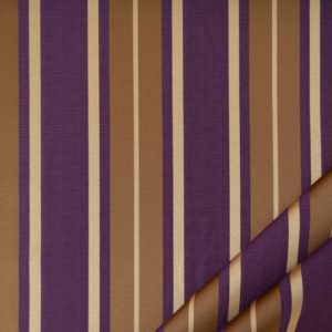 tessuto elegante riga gramde mx supreme colore prugna e oro antico