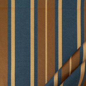tessuto elegante riga gramde mx supreme colore blue oro antico