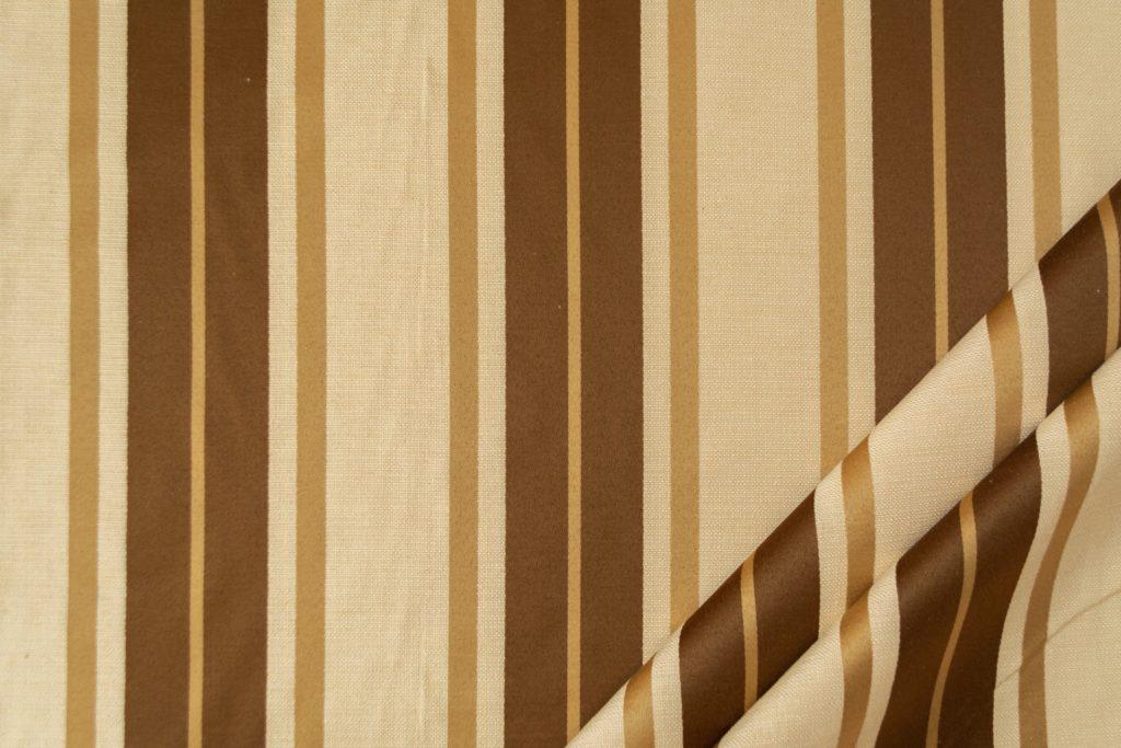 tessuto elegante riga grande mx supreme colore corda e oro antico