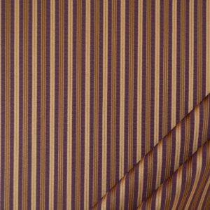 tessuto elegante riga piccola mx supreme colore prugna e oro antico