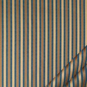 tessuto elegante riga piccola mx supreme colore blu e oro antico