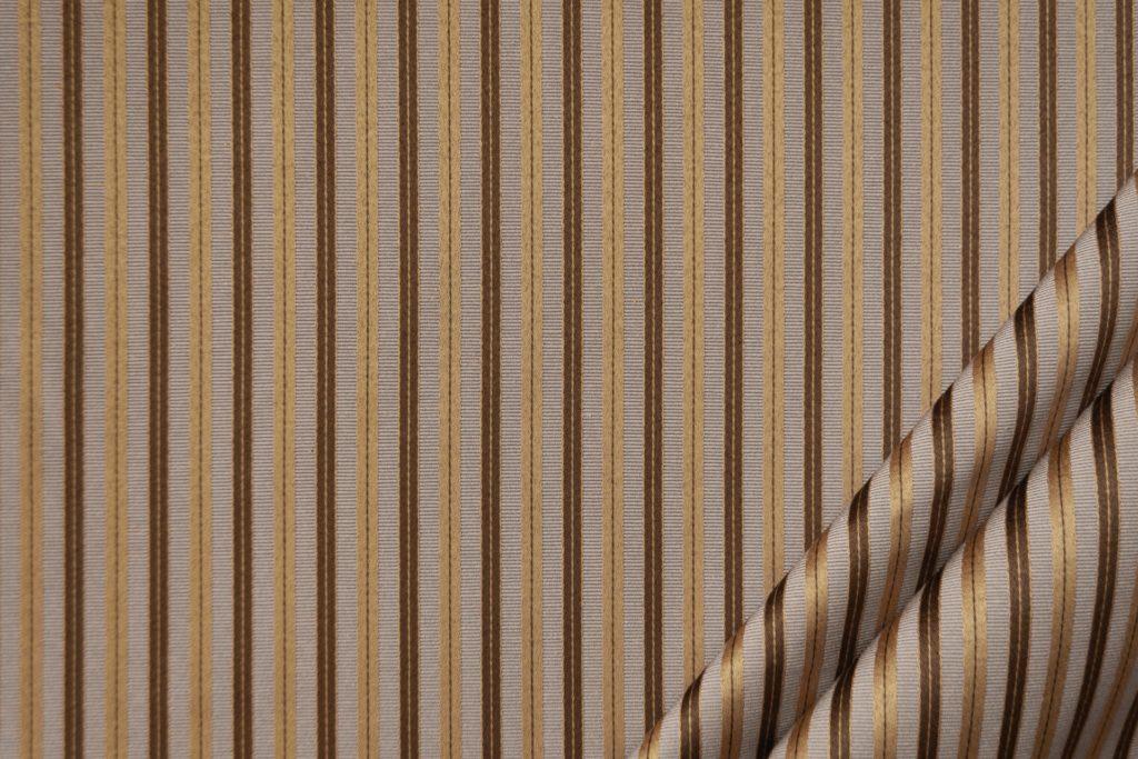 tessuto elegante riga piccola mx supreme colore corda e oro antico