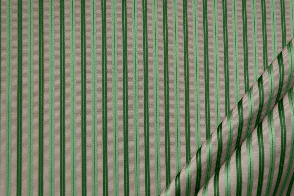 tessuto elegante riga piccola mx supreme colore beige e verde