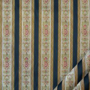 tessuto elegante rigato mx lisere colore blu