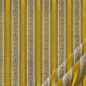 tessuto elegante rigato mx lisere colore oro