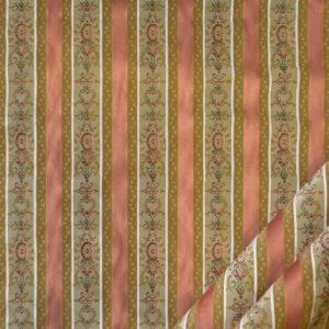 tessuto elegante rigato mx lisere colore rosa