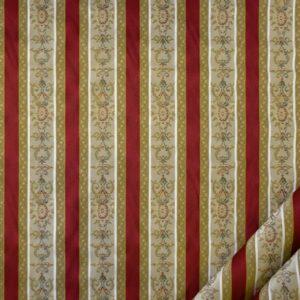 tessuto elegante rigato mx lisere colore rosso