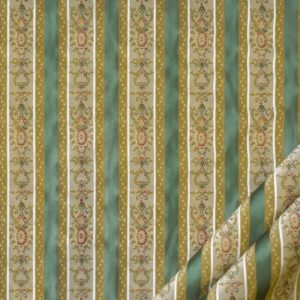 tessuto elegante rigato mx lisere colore verdino