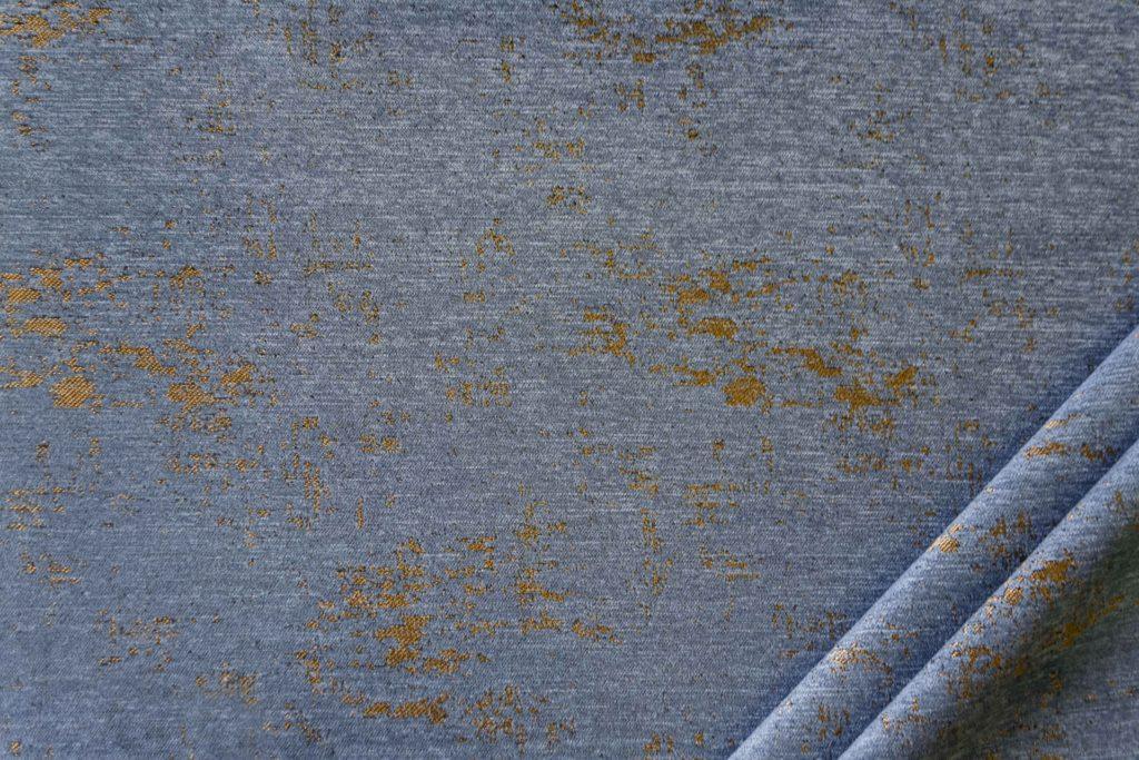 tessuto in microfibra graffiti colore blu chiaro