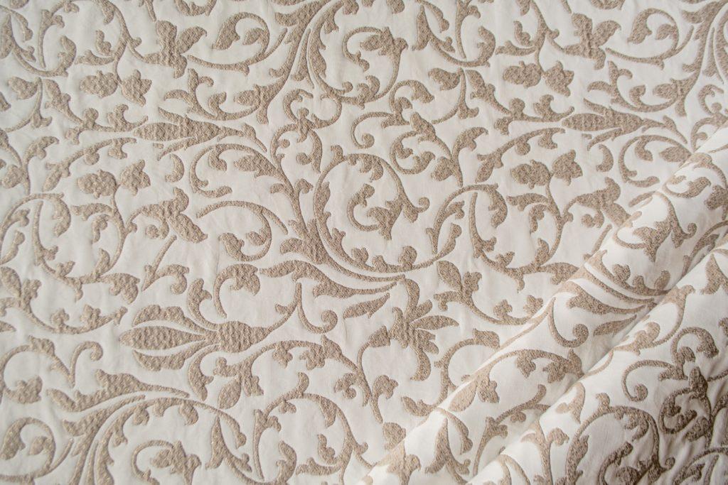 tessuto ramage con lurex mx carolina colore bianco