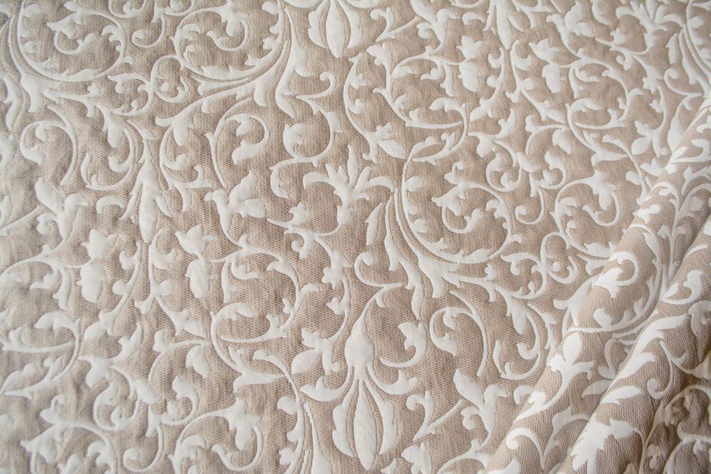 tessuto ramage con lurex mx carolina colore beige corda