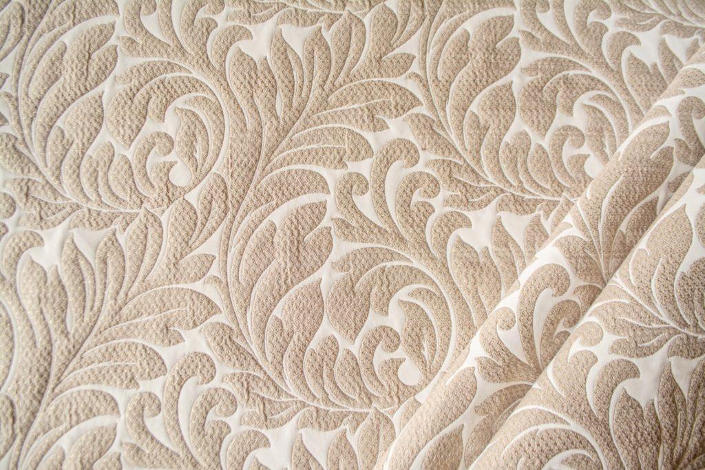 tessuto ramage con lurex mx donatella colore beige corda