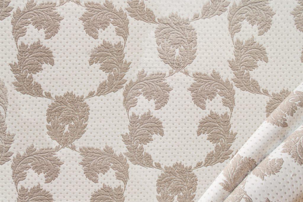 tessuto ramage con lurex mx karl colore bianco