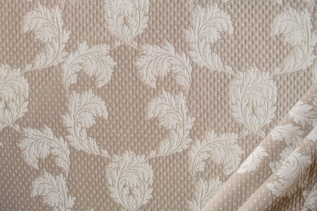 tessuto ramage con lurex mx karl colore beige corda