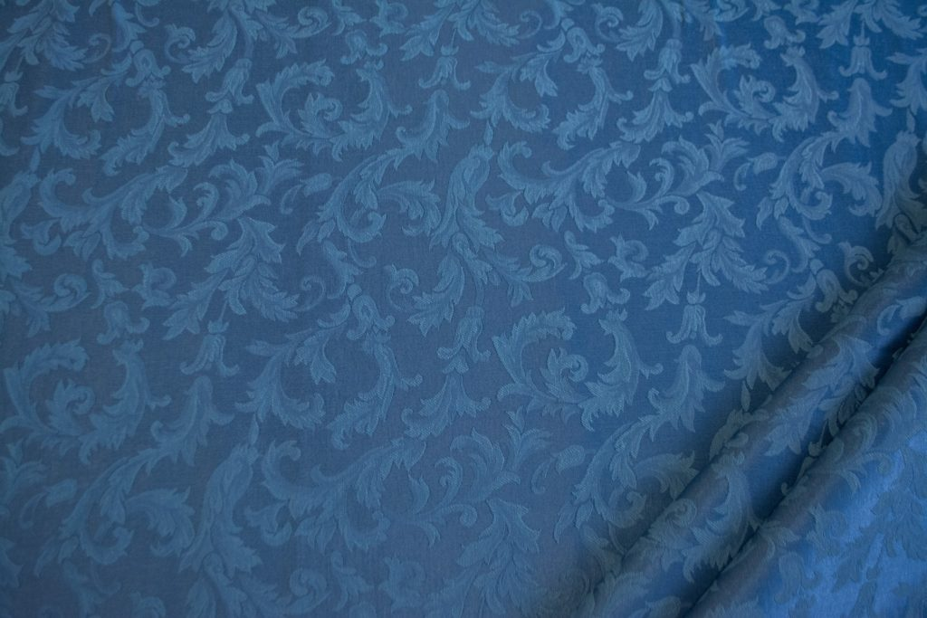 tessuto ramage elegante mx vanessa colore avio