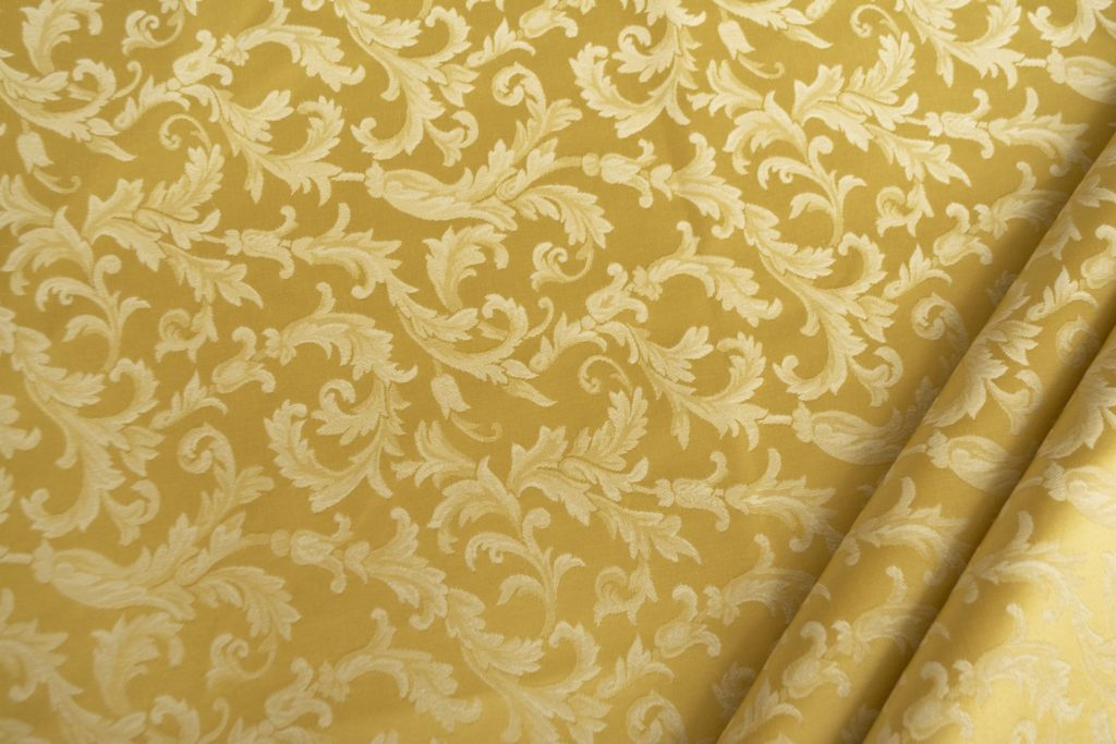 tessuto ramage elegante mx vanessa colore oro