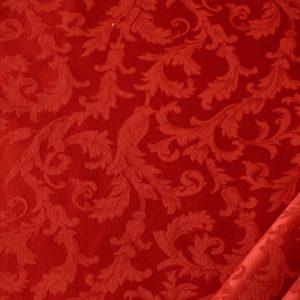 tessuto ramage elegante mx vanessa colore rosso natale