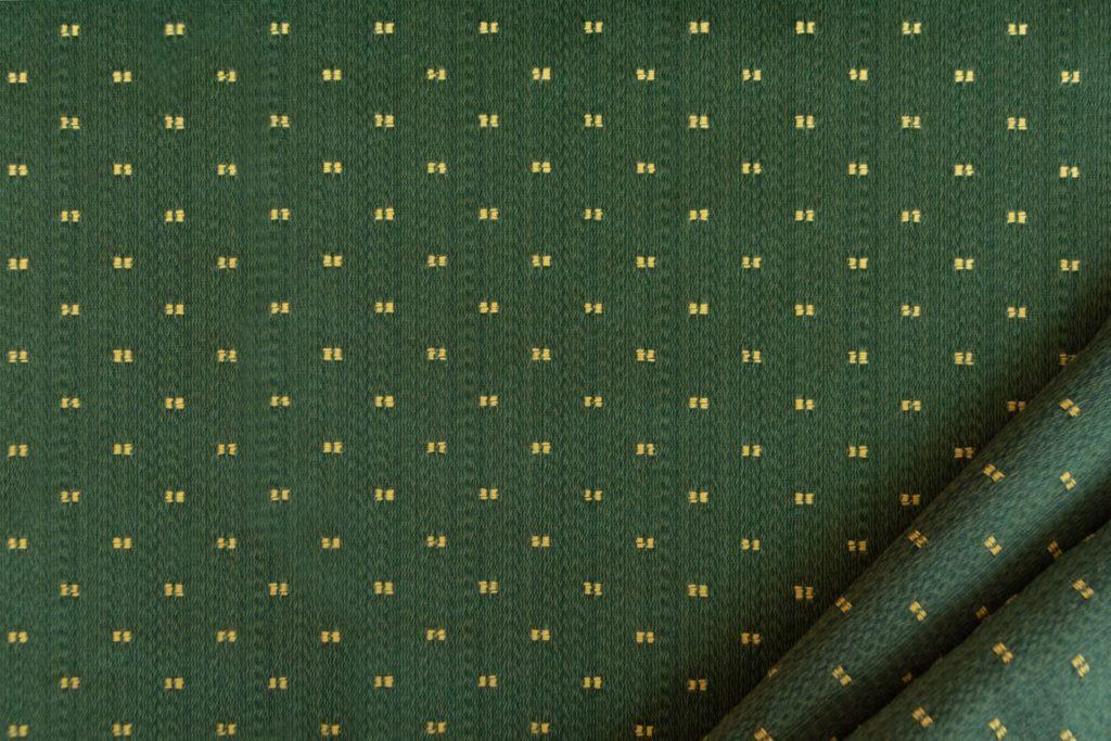 tessuto rasato ignifugo classe 1 elegante con puntino mx metropolis colore verde