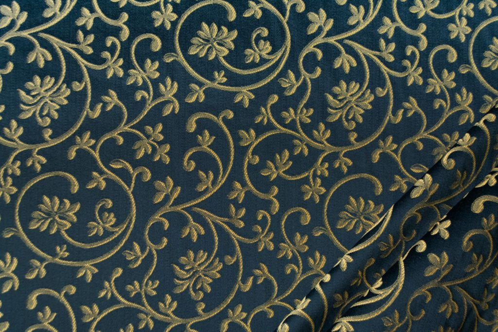 tessuto rasato ignifugo classe 1 elegante ramage mx metropolis colore blu