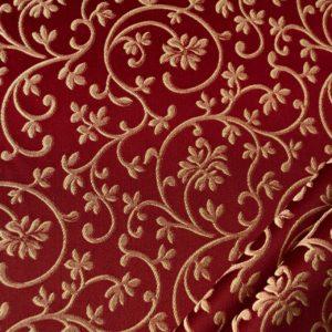 tessuto rasato ignifugo classe 1 elegante ramage mx metropolis colore rosso