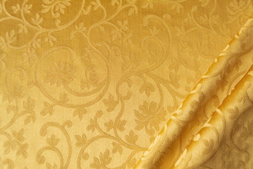 tessuto rasato ignifugo classe 1 elegante ramage mx metropolis colore oro