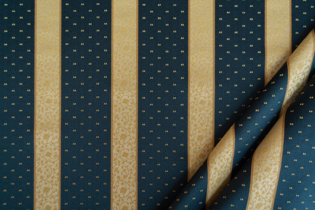 tessuto rasato ignifugo classe 1 elegante rigato con puntino mx metropolis colore blu