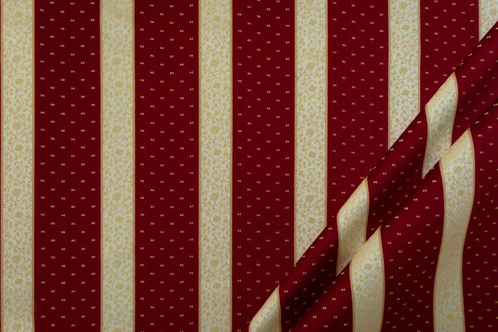 tessuto rasato ignifugo classe 1 elegante rigato con puntino mx metropolis colore rosso