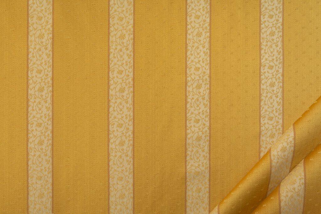 tessuto rasato ignifugo classe 1 elegante rigato con puntino mx metropolis colore oro