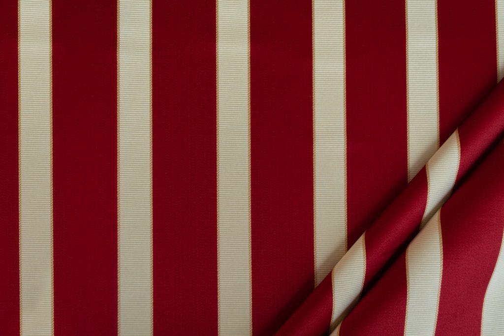 tessuto rasato ignifugo classe 1 elegante rigato mx metrolpolis colore rosso
