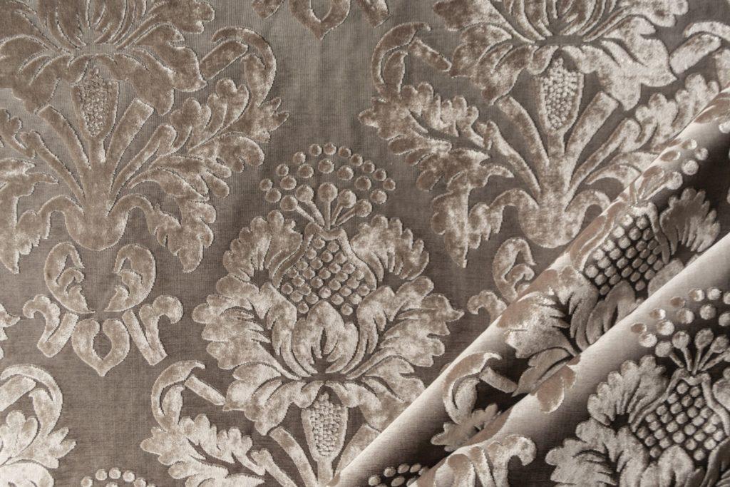 velluto elegante damascato mx caravaggio colore grigio perla
